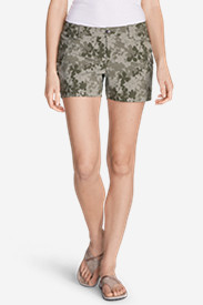 Green Shorts for Women: Women's Horizon Cargo Shorts - Print