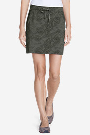 Spandex Skirts for Women: Women's Horizon Pull-On Skort - Print