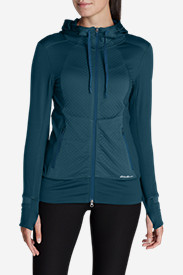 Quilted Hoodies for Women: Women's Crossover Fleece Quilted Hoodie
