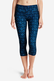 Polyester Leggings for Women: Women's Movement Capris - Medallion Print