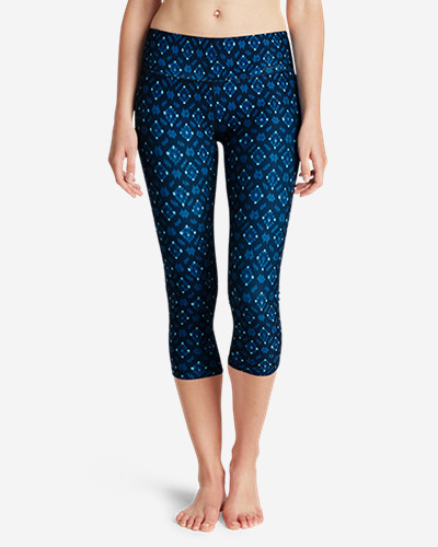 Eddie Bauer Movement Capris - Medallion Print
