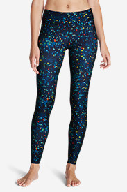 Blue Plus Size Leggings for Women: Women's Movement Leggings - Stardust Print