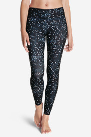 Polyester Leggings for Women: Women's Movement Leggings - Stardust Print