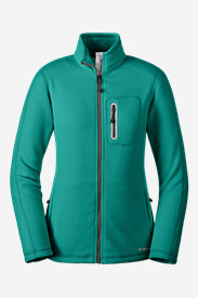 Green Petite Outerwear for Women: Women's Cloud Layer Pro Full-Zip Jacket