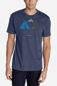 Men's Graphic T-Shirt - I Camp Therefore I Am