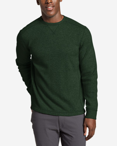 Green Shirts for Men: Men's Eddie's Favorite Thermal Crew Shirt