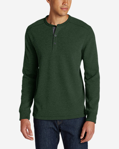Green Shirts for Men: Men's Eddie's Favorite Thermal Henley Shirt