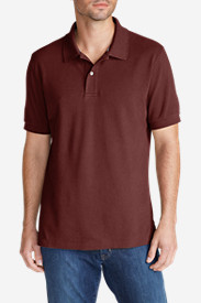 Brown Shirts for Men: Men's Field Short-Sleeve Polo Shirt