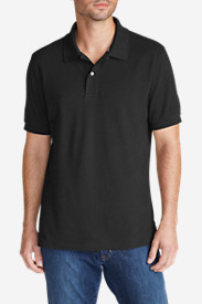 Black Shirts for Men: Men's Field Short-Sleeve Polo Shirt
