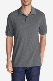 Gray Polo Shirts for Men: Men's Field Short-Sleeve Polo Shirt