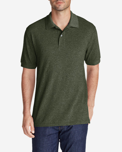Green Shirts for Men: Men's Field Short-Sleeve Polo Shirt