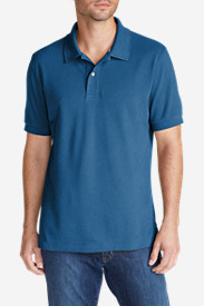 Blue Shirts for Men: Men's Field Short-Sleeve Polo Shirt