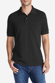 Black Shirts for Men: Men's Field Short-Sleeve Pocket Polo Shirt