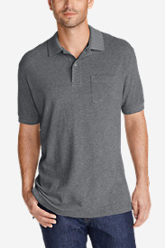 Gray Polo Shirts for Men: Men's Field Short-Sleeve Pocket Polo Shirt