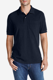 Blue Shirts for Men: Men's Field Short-Sleeve Pocket Polo Shirt