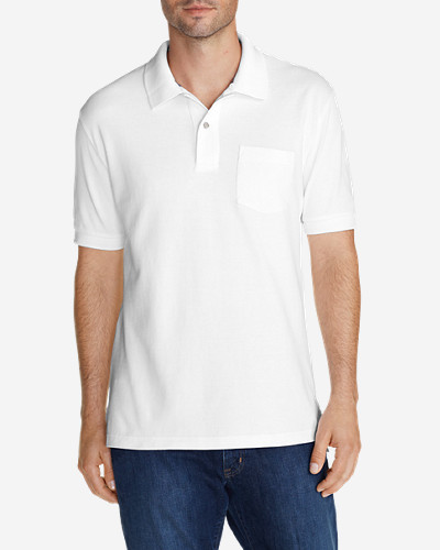 Collared Polo Shirts for Men: Men's Field Short-Sleeve Pocket Polo Shirt