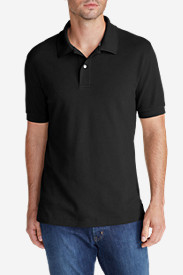 Black Shirts for Men: Men's Field Short-Sleeve Polo Shirt - Slim Fit