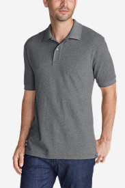 Gray Polo Shirts for Men: Men's Field Short-Sleeve Polo Shirt - Slim Fit