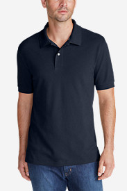 Blue Shirts for Men: Men's Field Short-Sleeve Polo Shirt - Slim Fit