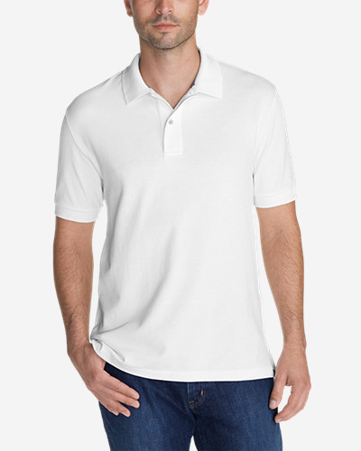 Big & Tall Shirts for Men: Men's Field Short-Sleeve Polo Shirt - Slim Fit