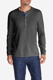 Black Shirts for Men: Men's Basin Double-Knit Henley