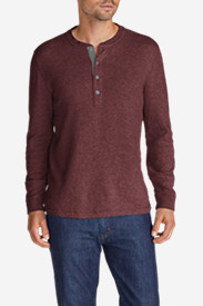 Long Sleeve Shirts for Men: Men's Basin Double-Knit Henley