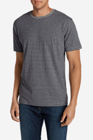Collared T-Shirts for Men: Men's Legend Wash Short-Sleeve T-Shirt - Stripe