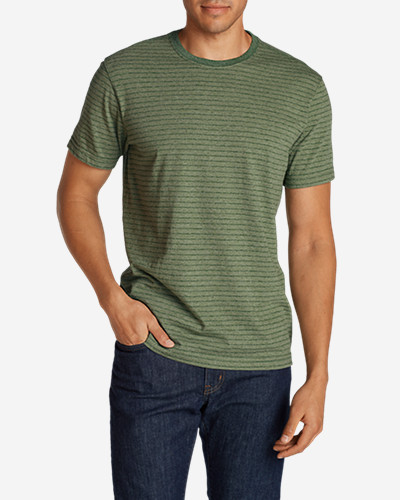 Green Shirts for Men: Men's Legend Wash Short-Sleeve T-Shirt - Stripe