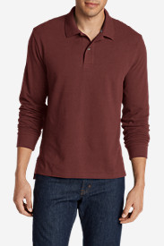 Brown Polo Shirts for Men: Men's Field Long-Sleeve Polo Shirt