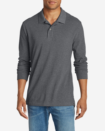 Collared Polo Shirts for Men: Men's Field Long-Sleeve Polo Shirt
