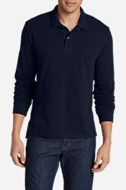 Blue Shirts for Men: Men's Field Long-Sleeve Polo Shirt