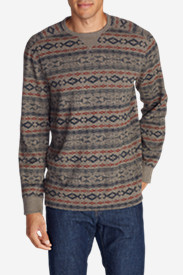 Big & Tall Shirts for Men: Men's Eddie's Favorite Thermal Crew - Pattern
