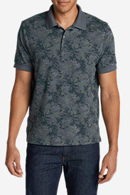 Blue Shirts for Men: Men's Field Short-Sleeve Polo Shirt - Print