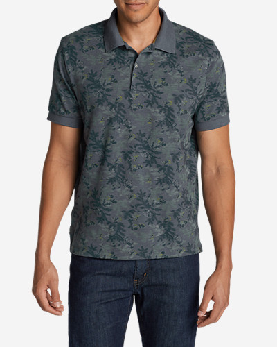 Collared Polo Shirts for Men: Men's Field Short-Sleeve Polo Shirt - Print