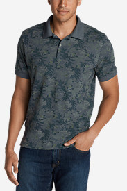 Blue Shirts for Men: Men's Field Short-Sleeve Slim Polo Shirt - Print