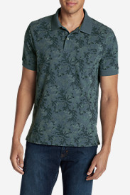 Blue Shirts for Men: Men's Field Short-Sleeve Pocket Polo Shirt - Print