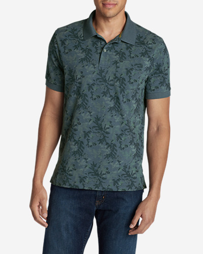 Collared Polo Shirts for Men: Men's Field Short-Sleeve Pocket Polo Shirt - Print