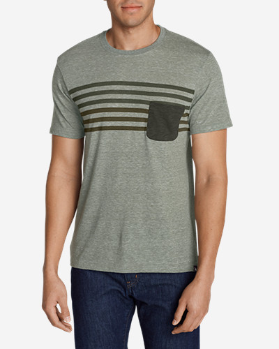Green Shirts for Men: Men's River Run Pocket T-Shirt
