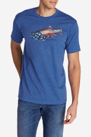 Men's Graphic T-Shirt - Hookmouth Salmon Flag