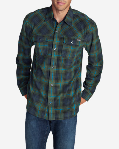 Green Shirts for Men: Men's Chutes Microfleece Shirt