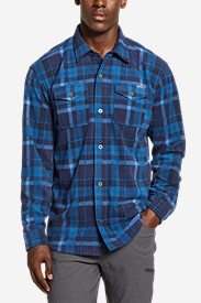 Blue Shirts for Men: Men's Chutes Microfleece Shirt