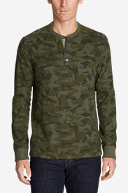 Men's Eddie's Favorite Thermal Henley - Printed