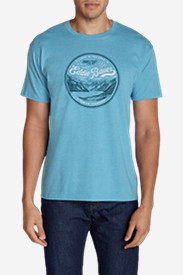 Blue Shirts for Men: Men's Graphic T-Shirt - Alaskan Territory