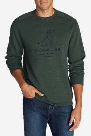 Graphic Shirts for Men: Men's Graphic Thermal Crew - Lab