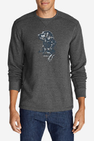 Comfortable Shirts for Men: Men's Graphic Thermal Crew - Man's Best Friend