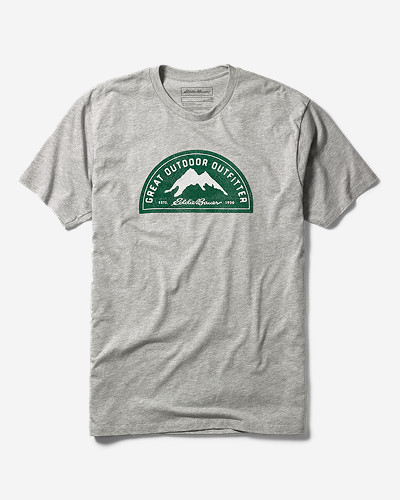 Gray Shirts for Men: Men's Graphic T-Shirt - The Great Outdoor Outfitter
