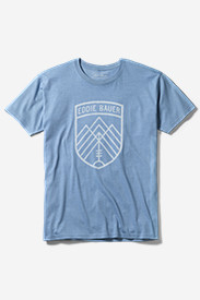 Blue Shirts for Men: Men's Graphic T-Shirt - The Key To The Mountains
