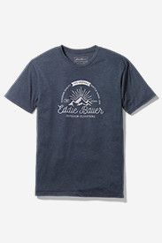 Blue Shirts for Men: Men's Graphic T-Shirt - Mountain Glow