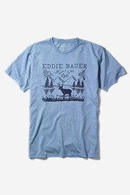 Blue Shirts for Men: Men's Graphic T-Shirt - Last Elk