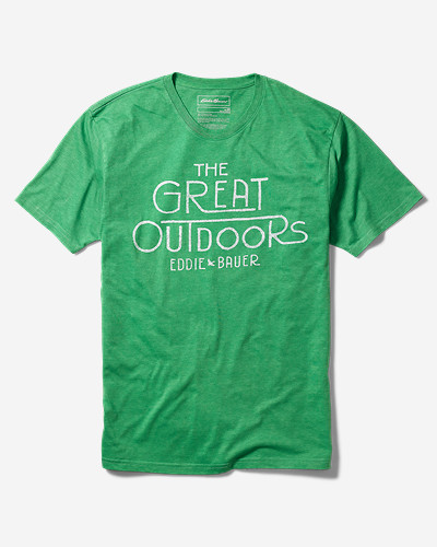 Green Shirts for Men: Men's Graphic T-Shirt - Great Outdoor